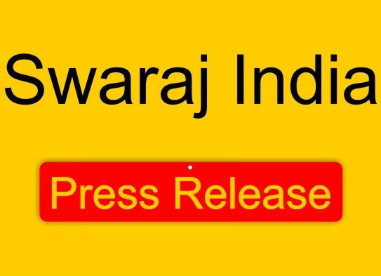 Swaraj India to not field candidates for Lok Sabha elections
